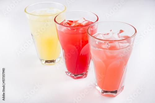 Photo  Different lemonade drinks