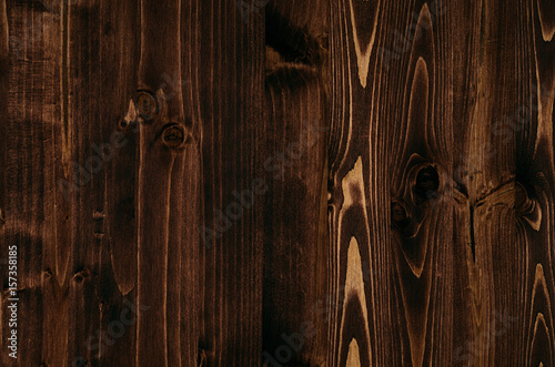 Tuinposter Hout Warm brown vintage wood texture. Top view, wooden board.