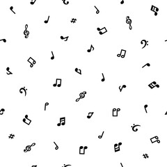 シームレスパターン 音符