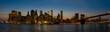 Skyline of New York City trough the blue hour