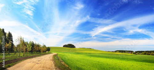 Foto auf Gartenposter Landschappen Sunny summer landscape