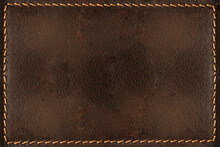 Brown Leather Background With Seams