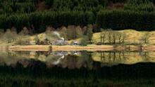 A Very Calm Winter Day At Loch Voil, Balquhidder In The Loch Lomond And Trossachs National Park, Scotland.