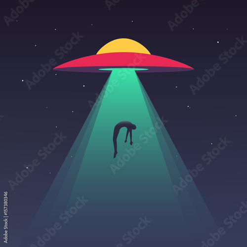Photo  UFO abducts human