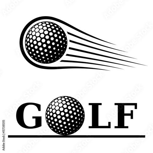 golf ball motion line text symbol vector Fototapeta
