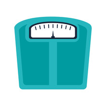 Weight Scale Device Icon Over White Background. Colorful Design. Vector Illustration