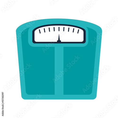 weight scale device icon over white background Canvas Print