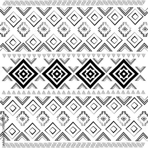 tlo-w-stylu-boho-czarno-bialy-wzor-ilustracji-wektorowych