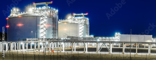 Panoramic image of the LNG Terminal in Swinoujscie in Poland