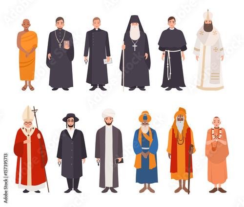 Fotografia Set of religion people