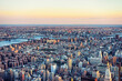 Aerial view on Skyscrapers in Manhattan and Brooklyn NYC