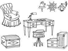 Sketch Of Furniture For A Chil...