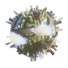 Conceptual Planet City 3d Rendering
