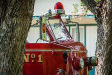 Old Vintage Fire Truck Ready F...