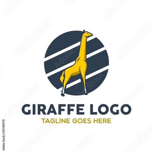 Unique Giraffe Logo Poster