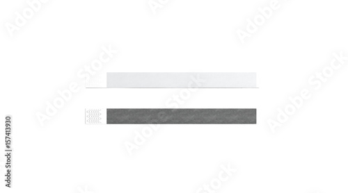 Blank black and white paper wristband mock up, 3d rendering Wallpaper Mural