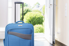 Blue Vacation Suitcase By Open...