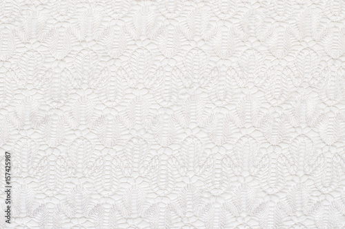 Valokuva  White knitted lace texture
