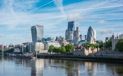 Plakat dzielnica biznesowa Londynu