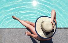 Beautiful Woman Sunbathing By ...