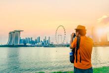 Photographer Or Traveller Usin...