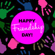 canvas print picture - Happy Friendship Day card or background.