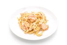 Fettuccini Pasta With Shrimp