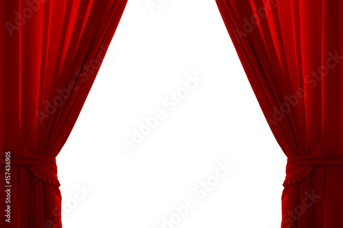 Fotomural  Isolated red curtain