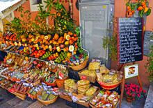 Typical Products Of Sicily Taormina, Italy