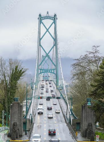 Photo Lionsgate Bridge in Vancouver - VANCOUVER - CANADA - APRIL 12, 2017