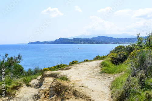 Foto op Plexiglas Cyprus The picturesque cliffs near Sidari - Corfu island in Greece