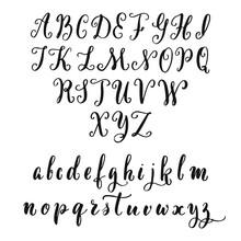 Hand Drawn Latin Vintage Alpha...