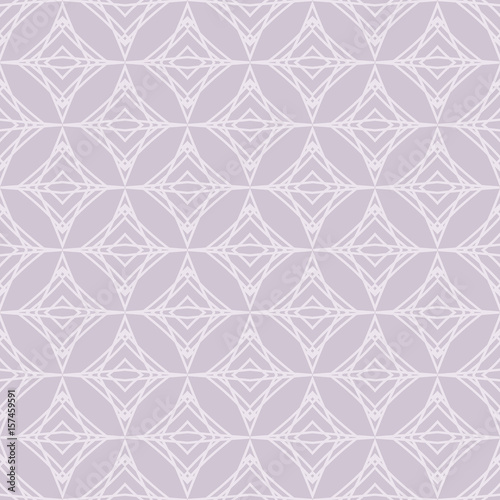Abstract Geometric Pattern In Grayish Purple Color Seamless Background Vector For Webpage Design