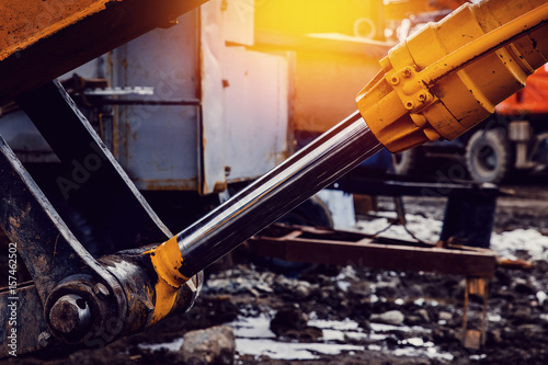 Pneumatic piston for machinery technology Wallpaper Mural