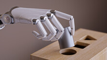 Robotic Hand With Cylinder And...