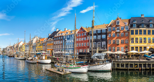 Nyhavn district  in Copenhagen Canvas Print