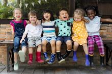 Group Of Kindergarten Kids Fri...