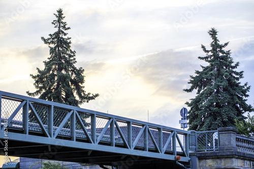 Fotografie, Obraz  Kleine Brücke am Winterhafen in Mainz