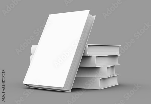 Fotografering  blank hard cover book template