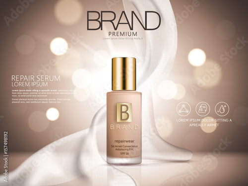 Fotografie, Obraz  repair serum ad brown