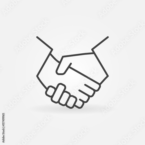 Cuadros en Lienzo  Handshake line icon