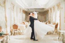 Romantic Couple Dancing And Ki...