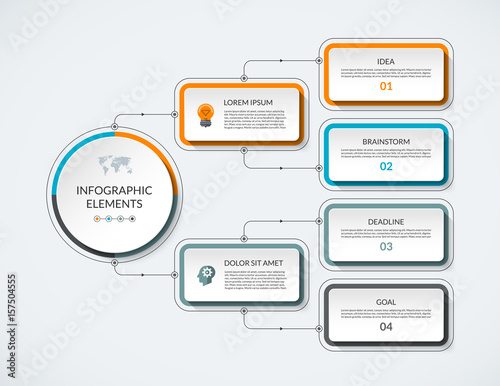 Infographic flow chart with 4 options modern minimalistic vector infographic flow chart with 4 options modern minimalistic vector template that can be used as ccuart Image collections