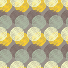 Fototapeta Polka dot seamless pattern. Vector illustration. Retro motif.