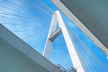 Abstract Shapes Of Cable-stayed Bridge