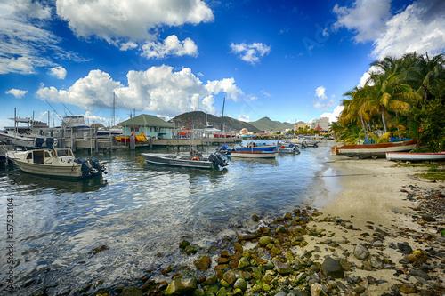 St. Martin island, Caribbean sea