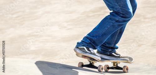 Fotomural  Skate na pista.