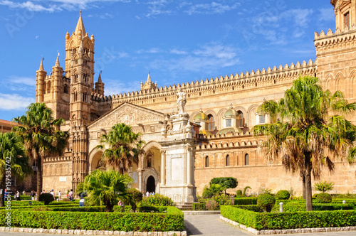 Tuinposter Palermo Cathedral of Palermo dedicated to the Assumption of the Virgin Mary - Palermo, Sicily, Italy