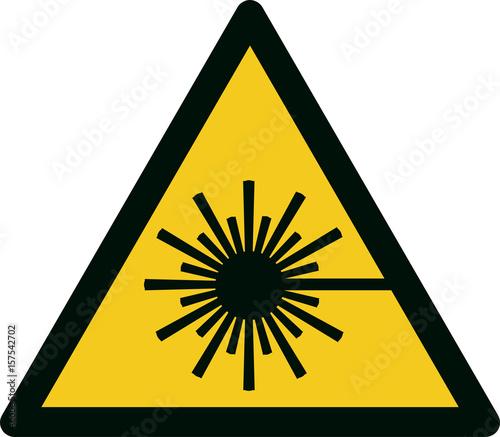 Valokuvatapetti ISO 7010 W004 Warning; laser beam