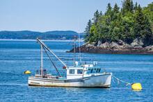 Lobster Boat At Anchor